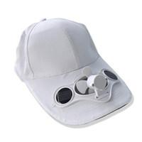 Wholesale butterfly pottery - Solar fan cap fan cap solar baseball on the 7th battery cap