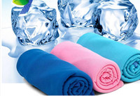 Wholesale baby magic compress for sale - Group buy Color Magic Cold Towel Exercise Fitness Sweat Summer Ice Towel Outdoor Sports Ice Cool Towel Hypothermia x35cm Cooling Towels