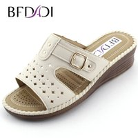 Wholesale hollow out wedge sandal - Wholesale-2016 Hot Sale Women Sandals Fashion Open Toe Women Wedge Shoes Summer Hollow Out Slip-on Sandals Big Size 36-42 2212