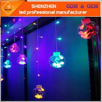 Wholesale Ip44 Plug - 3M led curtain ball light 12pcs Big ball 108 leds string Multicolor AC220V with EU plug IP44 Waterproof decoration for Window