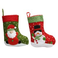 Wholesale Decoration For Xmas Stocking - Christmas Stockings Socks 26cm Santa Claus Candy Gift Bag Xmas Tree Decorations For Christmas Decoration Supplies