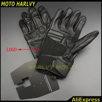 Wholesale Wholesale Leather Motorcycle Accessories - Wholesale- 2017 New Design Motorcycle Accessories Reflective and Touch Screen Function Leather Gloves for Harley Rider Men
