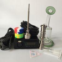 ingrosso kit uovo-D kit elettrico per unghie E digital enail Bobina PID Dab rig con bong in vetro riciclato Heady Fab bong Oil Rigs Free