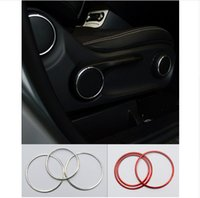Wholesale Alloy Adjustment - Aluminium alloy Car styling Seat adjustment knob decorative ring auto interior accessories 3D sticker for Mercedes Benz CLA GLA