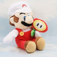 """Wholesale Super Mario Bros Plush Characters - Wholesale-HOT Super Mario Bros 8"""" Mario Sun Flower Character Plush Doll Soft Toy Kid Gift"""