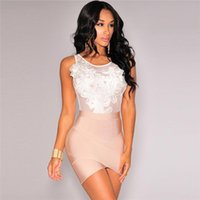 Wholesale Ladies Lace Rompers - Sexy Skinny Black Women Jumpsuits Fashion Designer Slim White Sleeveless Lace Rompers for Ladies with Broadcloth