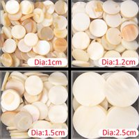 Wholesale Pearl White Tile - 100g Free Shipping pure white color round shell mother of pearl mosaic tile for interior house decoration tiles