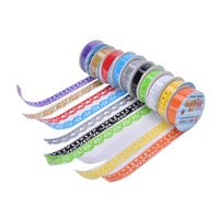 Atacado- 2016 1Pcs Sticky Paper Masking Tape Self Adhesive Tape Scrapbook Tapes Lace Tape Decoração Roll Candy Colors DIY Washi Decorat