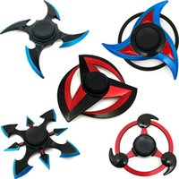 Wholesale Ninja Naruto - Newest Ninja Hand Spinner NARUTO Fidget Spinners alloy anti-Stress Toys High Speed 3-5 Min Perfect Stress Reducer and long Killing time