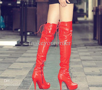 Wholesale Pu Jack Black Women - special price high heel long boot inner slide laceup jack boots overknee boots pole dancing boot