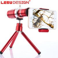 Wholesale Magnifiers For Sale - 2017 hot sale Universal 12x Optical Lens Phone Telescope Camera Lens For iPhone for Samsung Magnifier with Holder