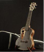 Wholesale Guitar Concert - New full all Rosewood Ukulele Concert Ukulele small guitar 23 Black Hawaii Small Guitar Musical Instruments