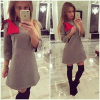 Wholesale Ladies Knee Length Sweaters - 2017 Sexy Womens Ladies Winter Long Sleeve Jumper Tops Fashion Girls Knitted Oversized Baggy Sweater