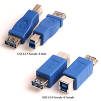 b connectors wholesale 2018 - Hot Sale USB 3.0 Type A Female to Type B Male Plug Connector Adapter USB 3.0 Converter Adaptor AF to BM