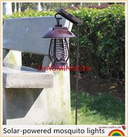 1PCS NOVO Mosquito Killer Solar Power LED Lâmpada Outdoor Garden Yard Lawn Walkway Lamps Bug Insect Light Black Killing Pest