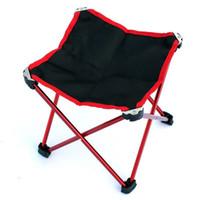 tragbarer klappstuhl stuhl großhandel-Outdoor Camping Wandern Angeln Tragbare leichte Klappstuhl Stuhl Sitz Zum Angeln Picknick BBQ Großhandel mit Tragetasche