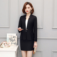 Wholesale Dress Jackets For Ladies - New Spring and Autumn Formal Blazers Women's Suits with Skirt and Jacket Sets Ladies Office Suits for Work