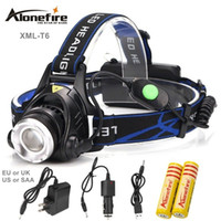 Wholesale Head Flashlight Waterproof - AloneFire HP88 Waterproof Headlight CREE T6 LED Headlamp 18650 Battery Powered Head Lamp Torch LED Flashlights Torch for Fishing Camping
