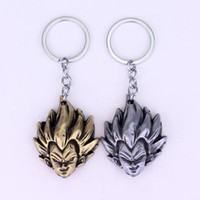 Quente! Dragon Ball keychain Z Son Goku Saiyan 3D Metal Head Pendant Chaveiro Series Classic Cartoon Keyring