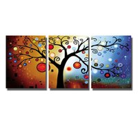 Wholesale Money Tree Decoration - Printed Painting Sitting Room Wall Decor Artwork Pictures Home Decoration Money Tree Oil Painting No Framed Spray Painting on Canvas