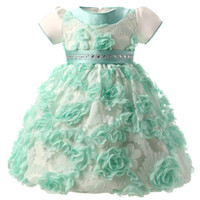 Wholesale Brand Baby Princess Dress - Wholesale- Brand Baby Girl Dress Fancy Flowers Little Princess Girl Party Dress Wear Kids Infant Clothing 1 Year Birthday Dresses for Girls