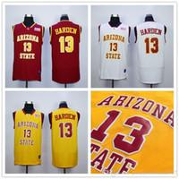 Wholesale Sun Dry - Arizona State Sun Devils James Harden College Basketball Jerseys 13 James Harden Stitched University Shirts For Men Yellow Red White S-XXL