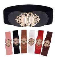 Wholesale Vintage Girdles - New 2017 brand designer belts Women's Belts Ladies palace Vintage belt Diamond Elastic girdle Metal buckle personalized decorative belt