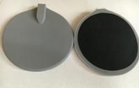 silikon-gummi-pads großhandel-95 * 95 mm 10-teilige runde Silikonelektrodenauflagen kreisen zehn Kohlenstoffelektroden / Silikonkautschukelektrodenauflagen für Zehnermaschine ein