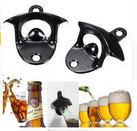 Wholesale glass cook - Bottle Opener Stainless Steel Wall Mount Bar Beer Soda Glass Cap Bottle Opener Cooking Tools Kitchen Accessories DHL Free Shipping