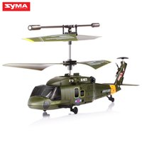 Wholesale Model Helicopters Radio Controlled - SYMA S102G Mini 3CH RC Helicopter with Gyroscope Gunships Simulation Indoor Radio Remote Control Toys for Military Enthusiasts 2107304