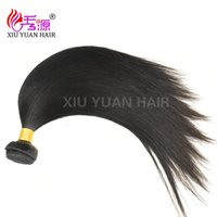 Wholesale Black Brazillian Hair - Xiu Yuan Brazilian Virgin Human Hair Weaves Bundles Unprocessed Brazillian Peruvian Straight Hair Extensions Natural Black
