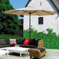 Wholesale 9 FT Patio Umbrella Patio Market Steel Tilt With Crank Outdoor Yard Garden color