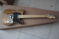 Wholesale Guitar Tele New Arrival - Free shipping Top quality 2017 New style Arrival Natural wood color TELE Electric Guitar Black tipping in stock