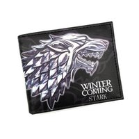 Wholesale Wholesale Passport Holder Purple - Wholesale- New PU Leather Wallet Game of Thrones Short Wallets With Card Holder Men And Women Purse Cartoon Wallet Dollar Price
