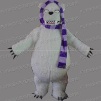 Wholesale Bear Suit Halloween Costume - Higher quality polar bear Mascot Costume adults fruit christmas Halloween Outfit Fancy Dress Suit EMS Free Shipping