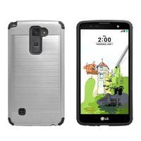 Wholesale G6 Light - For LG G6 G5 G4 G3 G2 Stylus 2 Plus Stylo 3 TPU+PC Lars Mars Brushed Metal Armor New Cases