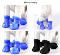 Wholesale Tape Designs - 2 Pair Environmental Harmless Durable Magic Tape Design Dog Cat Rain Shoe Snow-proof Boot Household Supplies +B