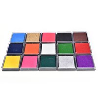 Wholesale Fingerprint Ink - Wholesale- 1PC 15 colors Cute Inkpad Craft Oil Based DIY Ink Pads for Rubber Stamps Fabric Scrapbook Wedding Decor Ink Pad for Fingerprints
