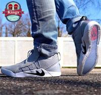 Wholesale Khaki Colour Sports Shoes - 2017 Hot Mens KOBE A.D NXT 12 Men KB Volt White Black AD WOLF GREY Zoom Sport Shoes Discount Cheap Basketball Shoes 9 Colours Size Eur 40-46