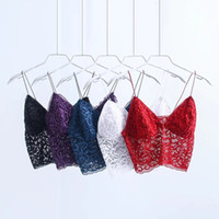 Wholesale Red Lace Camisole - Brand New Women's Camisole Sexy Brief paragraph renderCondole belt wrapped chest The bra top