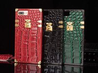 Wholesale Iphone Crocodile Leather Luxury - Fashion Luxury Crocodile skin PU leather Phone Case cover for iphone7 7plus 6 6S plus women party show TPU Protective shell