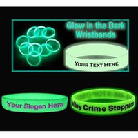 Wholesale Silicone Bracelets For Letters - Wholesale 500pcs lot customized glow in the dark silicone bracelets  wristband for promotional gift,sports band DHLFREE SHIPPING