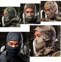 Wholesale Military Full Face Helmets - Multicam Balaclava Camouflage Tactical Paintball Wargame Military Army Helmet Protection Full Face Mask For Cycling Motorcycle