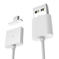Wholesale Smartphone S5 - 1m 3ft WSKEN Metal Magnetic quick charging cables LED light Adsorbing dust proof charger adapters cables for smartphone s5 s6 s7 edge note5