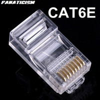 Wholesale Rj45 Modular Connectors - Fanaticism High Quality 8P8C RJ45 RJ-45 CAT6 CAT6E Modular Plug Network Connector Ethernet Lan Cables Modular Connector