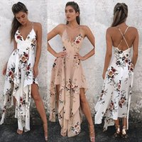Wholesale Cross Chiffon Top - 2017 Europe and The United States Sell Fast Blasting Paragraph 12+1 Kinds of Women's Beach Dress and Tops Sleeveless Printed Chiffon Dress