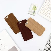 Wholesale Iphone 5s Covers Wood - BYLW S01 creative wood-like PU back case for iPhone7 plus,soft fitted back cover for iPhone6 6S plus,protetive case for iPhone5 5S SE