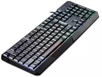 Wholesale Keyboard Gamers - High Quality MotoSpeed K70 Ergonomic 7 LED Colorful Backlight USB Wired Gamer Gaming Keyboard USB Powered for Desktop Laptop Teclado Gamer