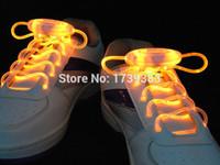 Wholesale Wholesale Pricing Optics - Wholesale- 10pairs High quality Fiber Optic 8 colors LED Shoe laces shoestring,Blister packing Best Price Disco Flash light up LED Shoelace