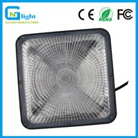Wholesale Ceiling Lights Cube - 60W Economy High Cube LED Ceiling Mount Fixture IP65 Rated outdoor Slim Gas Canopy Light Vandal Resistant 5000K Daylight 100-277VAC